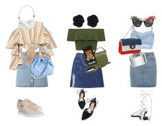 """""""#51 TRIO JEANS SKIRT"""" by lera-topor ❤ liked on Polyvore featuring Miss Selfridge, Topshop, WearAll, Caroline Constas, Lipsy, Lacoste, STELLA McCARTNEY, Tory Burch, Chanel and Anna-Karin Karlsson"""