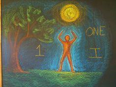 Chalkboard drawing 1 One