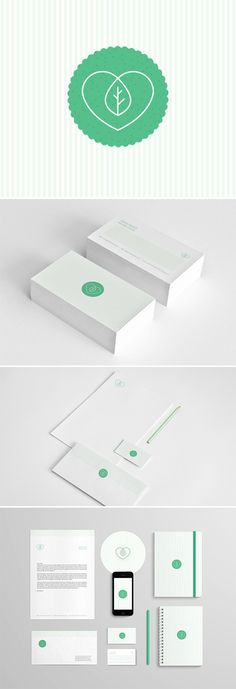 Corporate design letter head envelop business card cardboard eco logo branding.