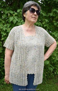 ABC Knitting Patterns - La Loire Summer Cardigan