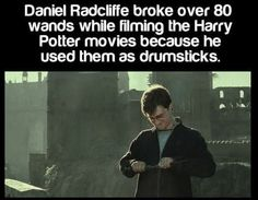 Radcliffe snapped 80 wands