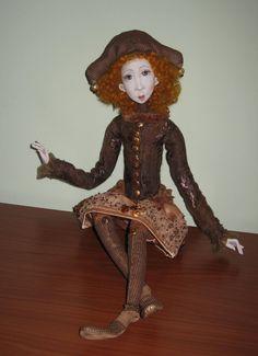 Alba Art doll OOAK Paper clay doll Handmade art doll by Jurate Dovydenaite of JuraD on Etsy