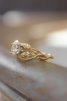 Leaf Engagement Ring, Dream Engagement Rings, Engagement Ring Settings, Leaf Ring, Ring Verlobung, Gifts For Nature Lovers, Cute Jewelry, Fashion Rings, Natural Diamonds