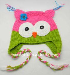 Cute Handmade Animal OWL beanies baby hats OWL036