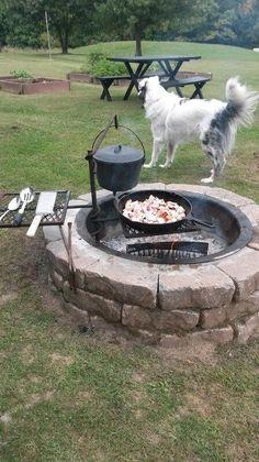 BURDA - 100 SUPER ИДЕЙ и ТЫ. — 🔴 ИДЕИ ДЛЯ ДОМА и ДАЧИ.🔴 | OK.RU Garden Fire Pit, Diy Fire Pit, Fire Pit Backyard, Backyard Patio, Backyard Landscaping, Backyard Ideas, Fire Pit Cooking, Outside Fire Pits, Outdoor Fireplace Designs