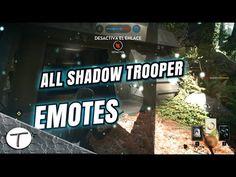 All Shadow trooper Emotes | Gestos Soldado sombra | Battlefront | audio ...