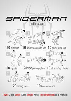 Idées d'entrainement de super héros