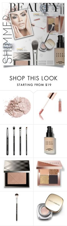 """Shimmer Beauty"" by selena-gomezlover ❤ liked on Polyvore featuring beauty, Bobbi Brown Cosmetics, Burberry, Anastasia Beverly Hills, Tiffany & Co., Dolce&Gabbana, BeautyTrend, polyvoreeditorial and shimmerbeauty"