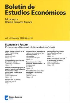 BOLETIN DE ESTUDIOS ECONOMICOS