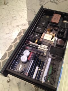 organized my vanity make-up drawer ~ feel so much better!