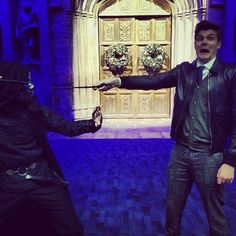 """@JimsTweetings: Toe to toe with a death eater. Nailed it!"" #christmasathogwarts"
