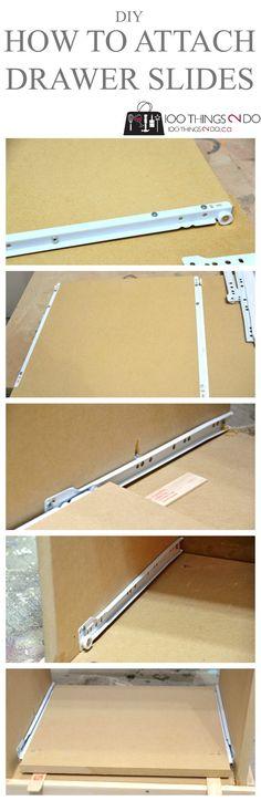 Attaching drawer glides/sliders