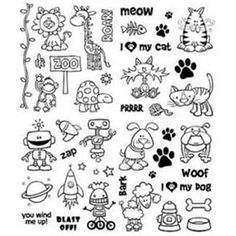 Loads of printable shrinky dink templates | Shrink Plastic