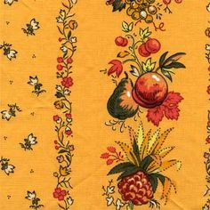 """Our Price: $14.99 per yard   Color: 104 (prov 9)  Content: 100% Cotton  Country: France  Width: 54""""  Repeat: V-12.5"""" H-25"""""""