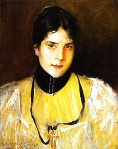 William Merritt Chase - Mrs Chase (The Yellow Blouse) 1895