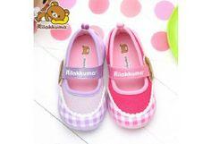 San-x Rilakkuma Girl's Toddler Slip-On Sneakers Shoes KM8248