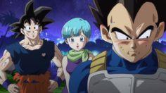 Dragon Ball Z La batalla de los Dioses : vegeta se sonrroja por proteger a bulma