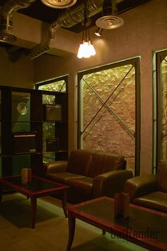 Vintage lounge with old stone masonry at the back of the scene - Rag Doll Post modern bar in Athens.