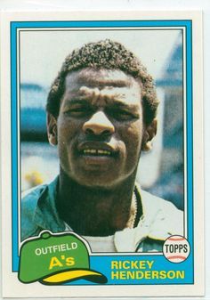 77 Best Rickey Henderson 2 Athletic 20 Mlb Images In 2015