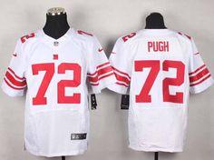 Nike New York Giants 72 Justin Pugh White Elite NFL Jerseys