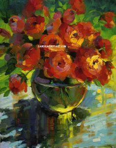 Orange Roses Pricing: 12x12 framed $199  12X12 unframed $129 20x20 framed $495 20X20 unframed $395