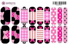 Pink Minnie Mouse (2) inspired Jamberry Nail Wraps | contact pinkmonkeyjamberry@gmail.com to inquire!