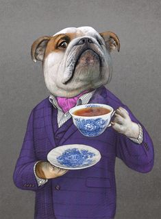 How illustrator Bob Venables produced a quintessentially English look for chef Heston Blumenthal's delectable food range and its packaging. Cute Dog Collars, Puppy Drawing, Dog Artwork, Animal Crackers, Animal Heads, Weird Art, Dog Portraits, Pet Clothes, Surreal Art
