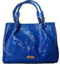 Antonio Melani Harlee Cobalt Blue Quilted Patent Tote  From Antonio Melani  Price:$99.00