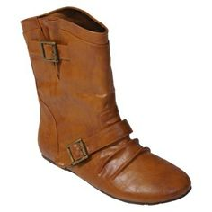 Target women shoes boots fashion boots  Womens Journee Collection Buckle Accent Mid-calf Boot