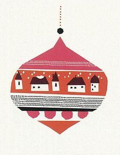 print & pattern: XMAS - darling clementine at soma gallery Noel Christmas, Vintage Christmas Cards, Christmas Design, Xmas Cards, Christmas Crafts, German Christmas, Vintage Cards, Christmas Ornament, Illustration Noel