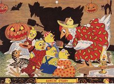 1949 calendar that was put out by the IBCA- International Baby Chick Assoc. ($13) 2017. It was an advertising calendar handed out by the John W. Schoonmaker Mt. Norwottuck Hatchery in Amherst, MA.  7.25 x 9.75 #vintage #Halloween #chicken #1940s #advert