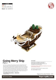 PaperToy - One Peace - Going Merry Part 02 001