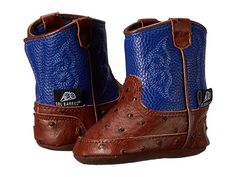 M&F Western Kids Baby Bucker Weston (Infant/Toddler) Cowboy Boots Blue Cowboy Baby, Toddler Cowboy Boots, Blue Cowboy Boots, Baby Boy Accessories, Twins 1st Birthdays, Crib Shoes, Free Clothes, Baby Booties, Baby Boy Outfits