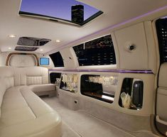 White Out - limo interior