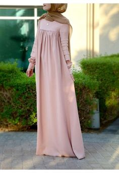 Modest long sleeve maxi dress full length stylish - much better without the belt! Modest Dresses, Modest Outfits, Nice Dresses, Maxi Dresses, Abaya Designs, Muslim Dress, Hijab Dress, Long Sleeve Maxi, Maxi Dress With Sleeves