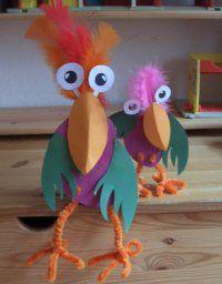 Schräge Vögel basteln