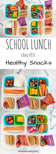 School lunch day 63: easy and healthy snack boxes from http://WhatLisaCooks.com