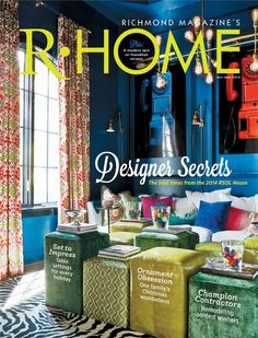 """Guess what is on the cover of the November/December '14 issue of R•Home Magazine? The Williams & Sherrill study designed by Patti Ryan, Kevin Malone, and Jamie Coffey in the 2014 Richmond Symphony Designer House, """"Hampton Manor"""" built by Bel Arbor Builders! Many thanks to Richmond magazine and R-Home for supporting the 2014 Richmond Symphony League Designer House! cover photo by V. Lee Hawkins"""