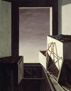 On the Contrary, 1952. Kay Sage (Katherine Linn Sage). Oil on canvas