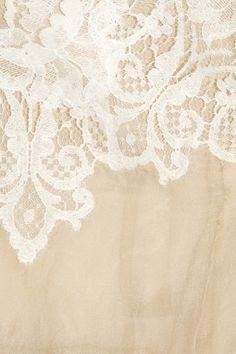 White lace on cream.