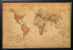 1873 original antique world map showing the distribution of mankind maps and map posters giant antique style world map poster this giant world map poster has a vintage parchment sytle look and will look great on any wall gumiabroncs Image collections