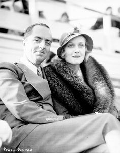 William Powell and Carole Lombard. They were later divorced but he recommended her for the movie MY MAN GODFREY. One of my favorite movies that I watch again and again! FYI men- this is how to act.