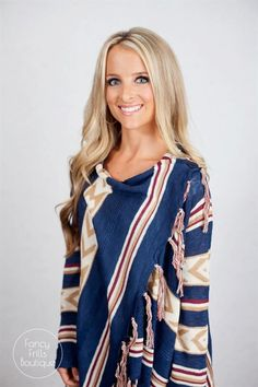We are loving the holidays coming up, and this is the PERFECT piece to keep you cozy all season!! It's super soft, lightweight acrylic fabric is so comfy and flattering on all body types! The aztec pattern adds style without being too flashy, the top button adds so much trend and makes this SUPER flattering. Wear it buttoned or unbuttoned, either way it's perfect! We love the soft colors for Winter!Sizing: Small 0-4Medium 4-8Large 8-12Model is wearing a size small. Fits true to size and is…