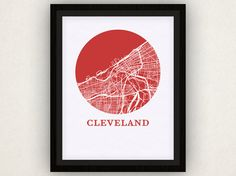 Cleveland Map Print  City Map Poster by OMaps on Etsy, $20.00
