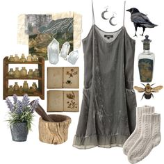 """kitchen witch by fawnfairy on Polyvore"""