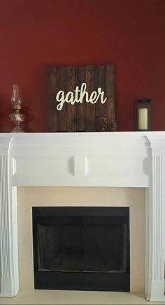 Gather Sign / Wooden Gather Sign / Farmhouse Wall Decor /
