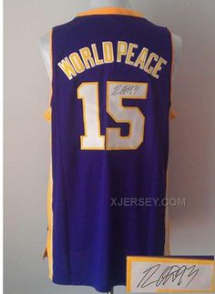 http://www.xjersey.com/lakers-15-world-peace-purple-signature-edition-jerseys.html Only$35.00 #LAKERS 15 WORLD PEACE PURPLE SIGNATURE EDITION JERSEYS Free Shipping!