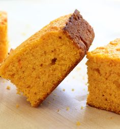 Honey Pumpkin Cornbread — Pumpkin not only adds wonderful flavor to this cornbread, it also gives it a moist, tender crumb and beautiful orange hue.