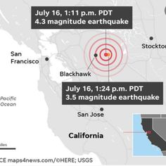 Is 'The Big One' next? California was shaking again Tuesday, with six earthquakes of or greater San Jose California, Tuesday, Big