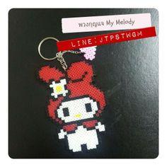 My Melody keychain hama perler beads by hobbylobbyshop